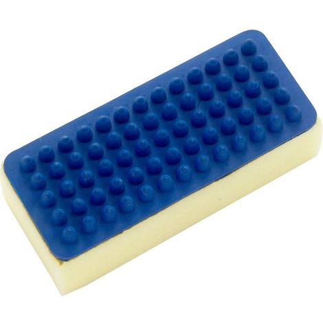 Lincoln Rubber Sponge Curry Comb (One Size) (Blue/Cream)