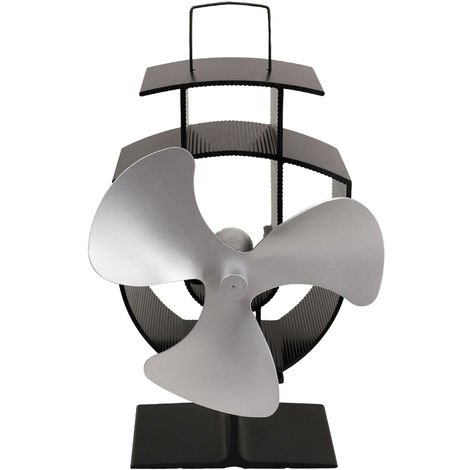 Lincsfire Blades Eco Friendly Stove Fan Heat Powered for Wood Burner/Fireplace Silver
