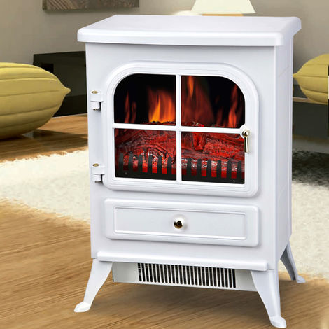 Lincsfire Freestanding 1850W Burton Electric Fireplace Heater Fire Place Log Burning Effect Stove