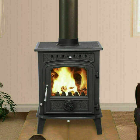 Lincsfire Greetwell 12KW High Efficiency MultiFuel Cast Iron Fireplace Stove Log Burner Wood Burning WoodBurner