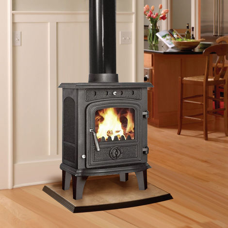 Lincsfire Greetwell 4.5KW High Efficiency Log Burner Wood Burning WoodBurner MultiFuel Cast Iron Fireplace Stove