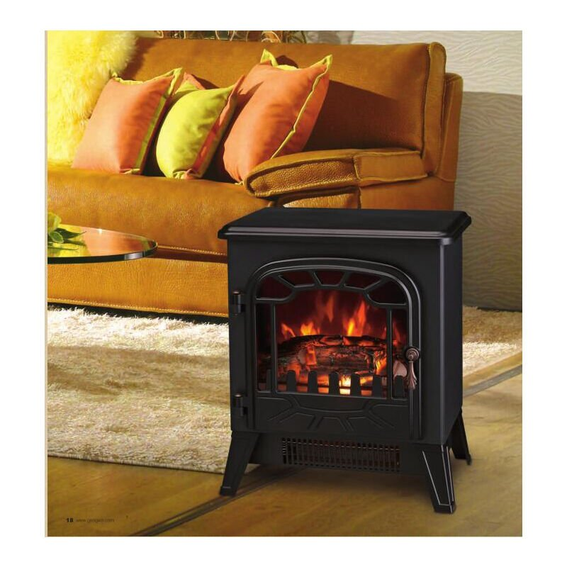 Lincsfire New 1850w Portable Electric Stove Fire Place Fireplace Heater Freestanding Log Burning Flame Effect 2 Heat Settings 409efs186