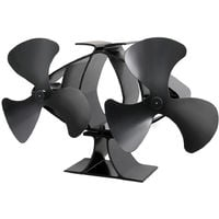 Lincsfire New Designed 6 Blades Heat Powered Stove Fan for Log/Wood Burner Eco Friendly Heating