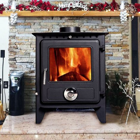 Lincsfire Reepham 12KW High Efficiency Log Burner Wood Burning WoodBurner MultiFuel Fireplace Stove