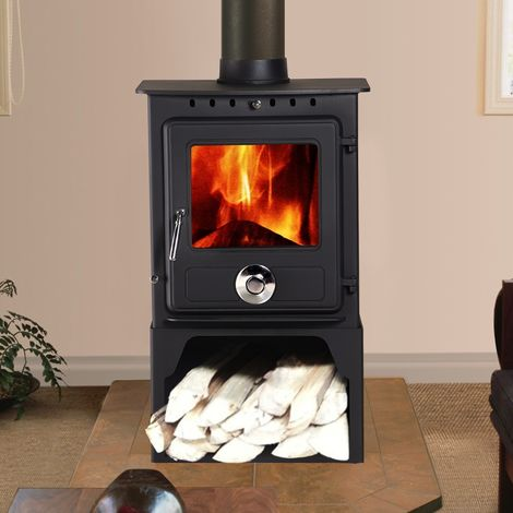Lincsfire Reepham 6.5KW High Efficiency Log Burner Wood Burning WoodBurner MultiFuel Fireplace Stove