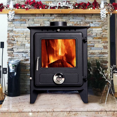 Lincsfire Reepham MultiFuel Fireplace Stove 8KW High Efficiency Log Burner Wood Burning WoodBurner