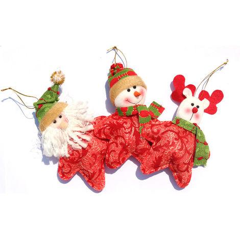 Linda decoracion en forma de estrella Reno de Papa Noel Navidad del muneco de Gran arbol de Navidad fuera de la Florida