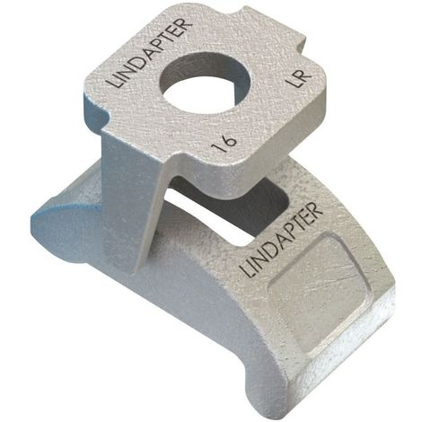 LINDAPTER Self adjusting tail clamp type LR Malleable iron Hot dip galvanized