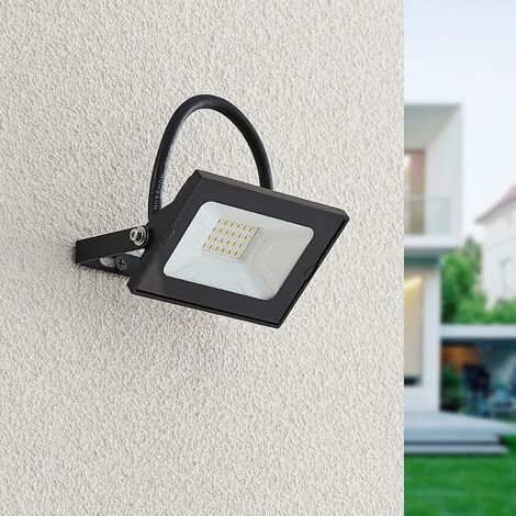 Lindby Aine foco LED exterior negro 7,7 cm