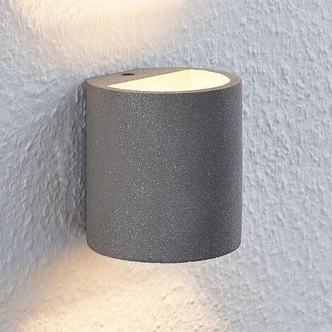 Lindby Edvin, aplique LED de hormigón, cilindro
