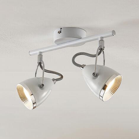 Lindby Jadon foco de techo LED, blanco, 2 luces