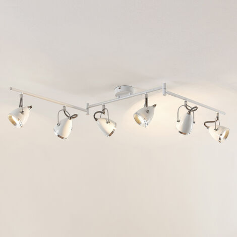 Lindby Jadon foco de techo LED, blanco, 6 luces