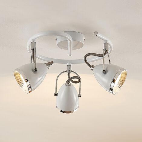 Lindby Jadon plafón LED blanco de 3 luces 29,7 cm