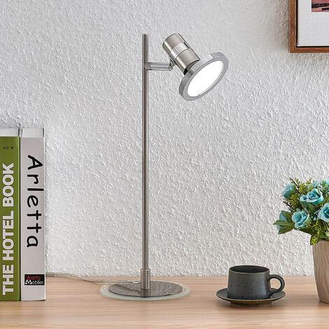 Lindby Kajetan lámpara de mesa LED, níquel, 1 luz