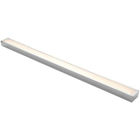 Lindby Layan aplique LED para baño, cromo, 120 cm