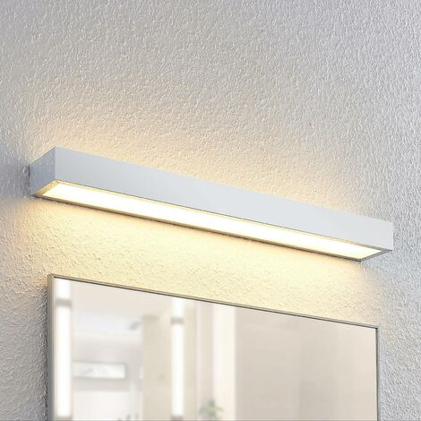 Lindby Layan aplique LED para baño, cromo, 60 cm