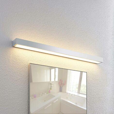 Lindby Layan aplique LED para baño, cromo, 90 cm