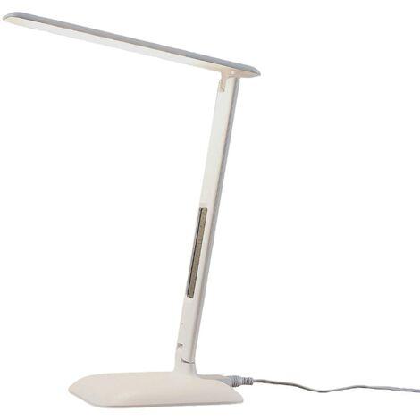 Lindby Ludmilla lámpara de mesa LED display blanco