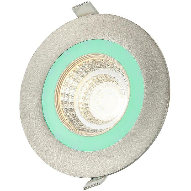 Noor downlight LED RGBW, nichel - Lindby