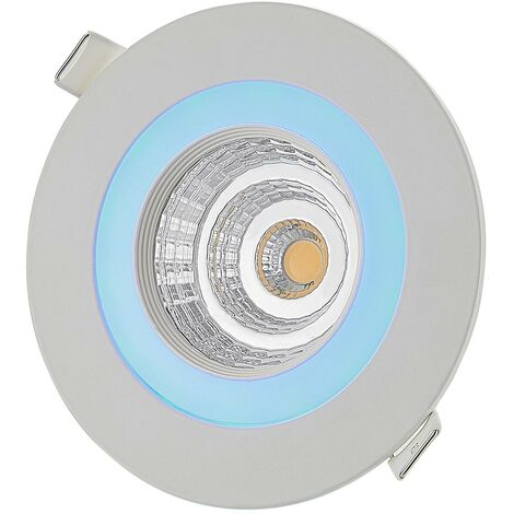 Lindby Noor LED recessed spotlight RGBW, white
