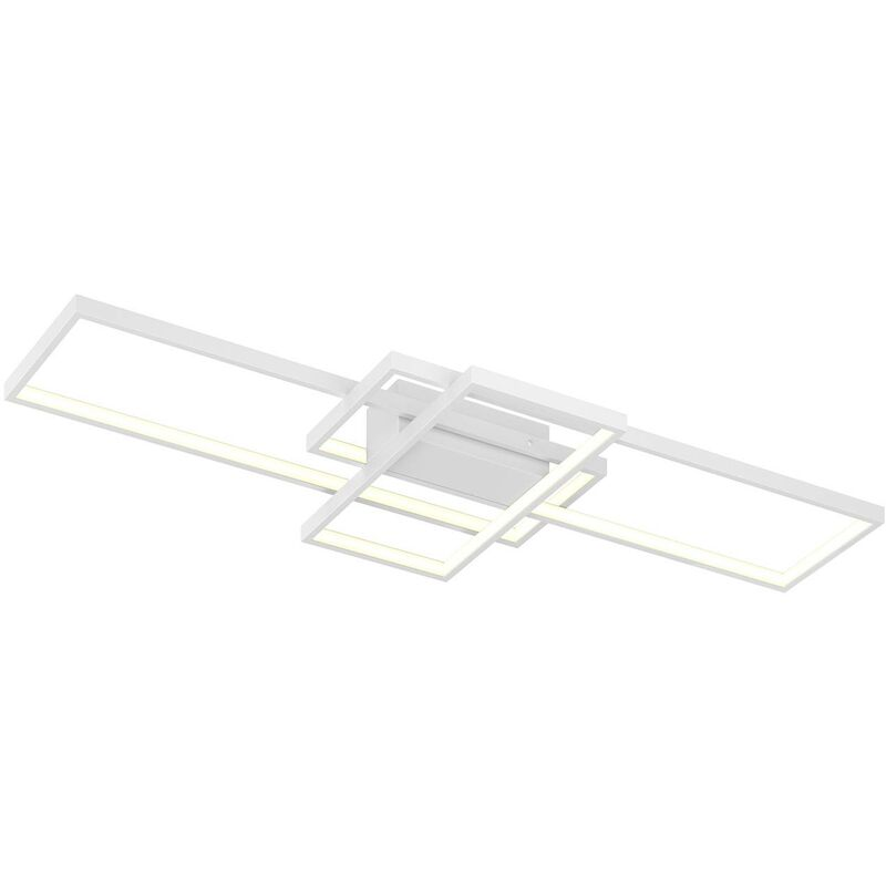Image of LED Ceiling Light 'Poppy' dimmable (modern) in White made of Aluminium (1 light source, A+) from Lindby   ceiling lamp, lamp