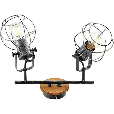 Lindby Salima foco de techo, jaulas, 2 luces