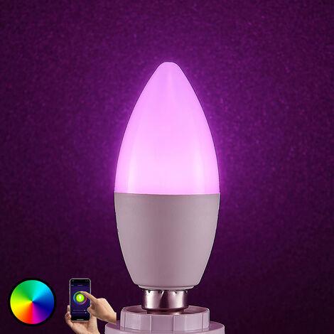 Lindby Smart bombilla LED WiFi E14 4,5W, vela RGB