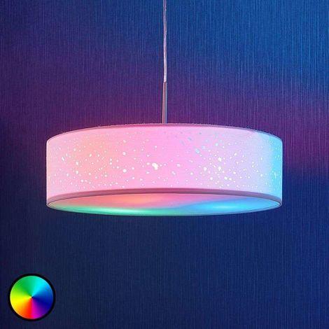 Lindby Smart lámpara colgante LED Alwine, redonda