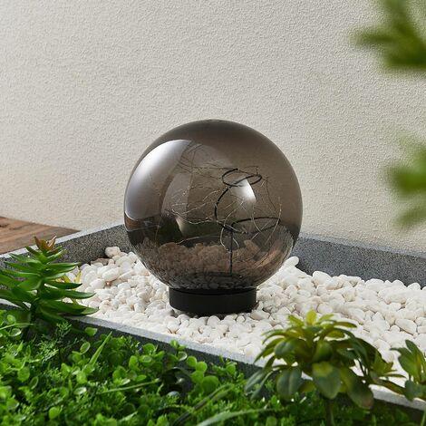 Lindby Tjelle lámpara LED solar, bola, Ø 20 cm