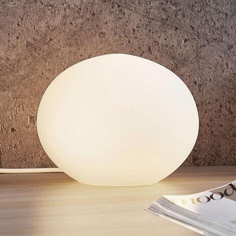 Lindby Tomas lámpara de mesa de vidrio, 17,5cm