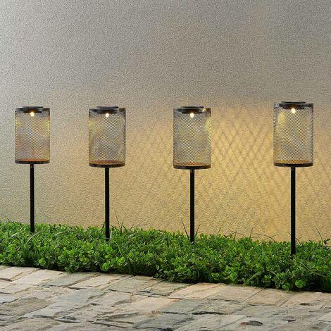 Lindby Wigand lámpara LED solar pica tierra, 4 ud