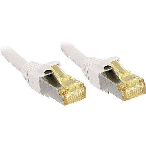 """main image of """"LINDY 47326 RJ45 Câble réseau, câble patch CAT 6a (câble brut CAT 7) S/FTP 5.00 m blanc avec cliquet d'encastrement 1 pc(s) C236701"""""""