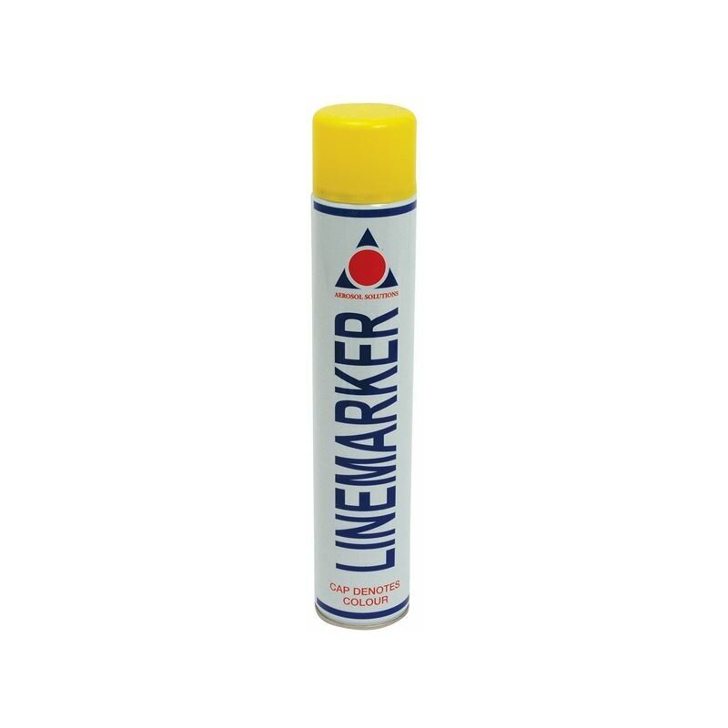 Image of 0900 Line Marking Spray Paint Yellow 750ml (AERLMPY)