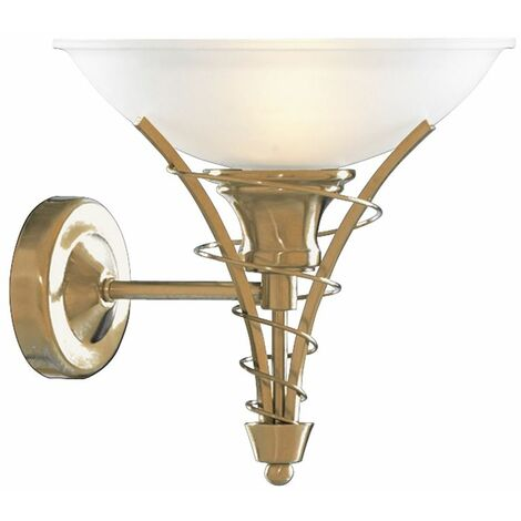 LINEA ANTIQUE BRASS TWIST WALL BRACKET - ACID GLASS