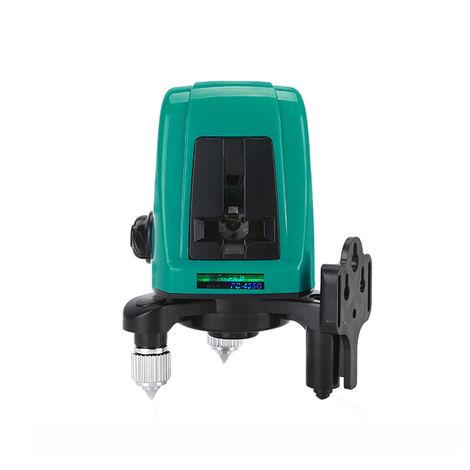Linea laser autonivelante, 2 lineas 1 punto horizontal vertical Linea verde Nivel laser