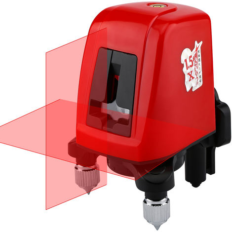 Linea laser autonivelante de 360 grados, 2 lineas 1 punto horizontal vertical