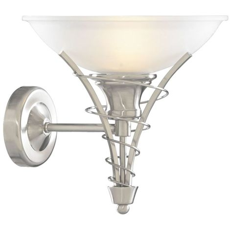 LINEA SATIN SILVER TWIST WALL BRACKET - ACID GLASS