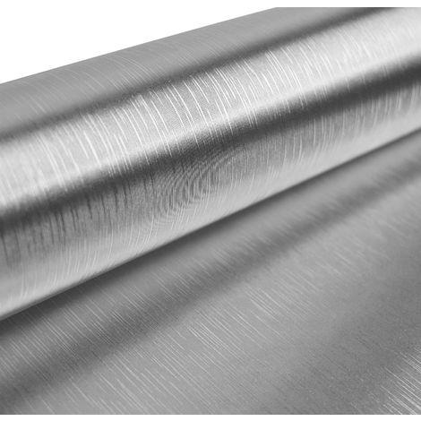 Linear Foil Silver Wallpaper Metallic Shimmer Shine Textured Vinyl