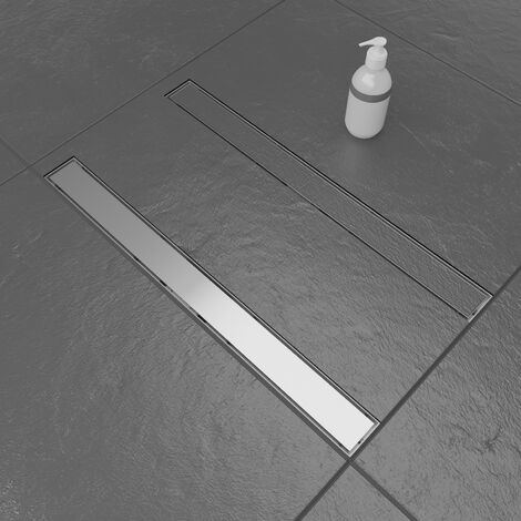 Linear Rotatable Shower Drain with 2 Sides 70cm