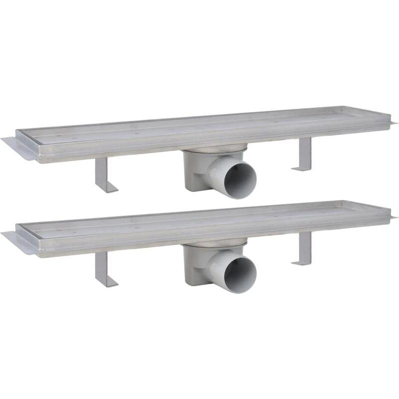 vidaXL Linear Shower Drain 530x140mm Stainless Steel Wetroom Bathroom Channel
