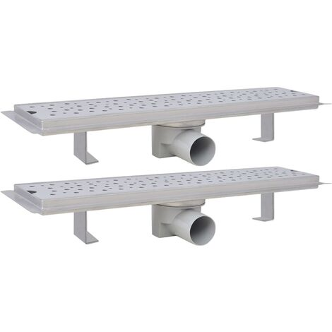 Linear Shower Drain 2 pcs Bubble 530x140 mm Stainless Steel