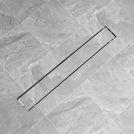 Linear Shower Drain 830x140 mm Stainless Steel