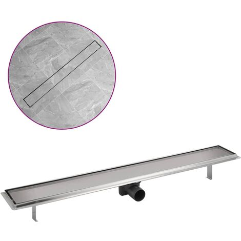 Linear Shower Drain 930x140 mm Stainless Steel