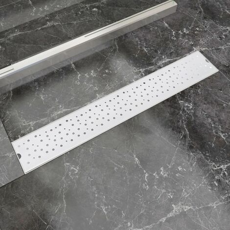 Linear Shower Drain Bubble 730x140 mm Stainless Steel