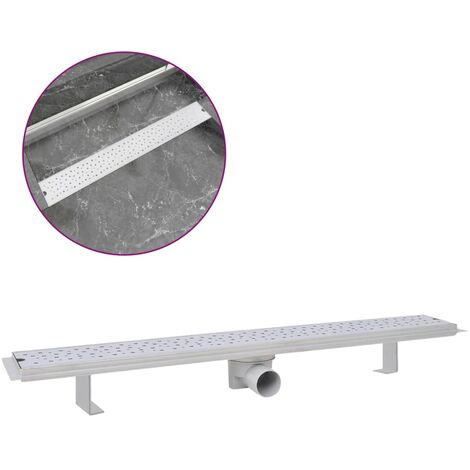 Linear Shower Drain Bubble 830x140 mm Stainless Steel