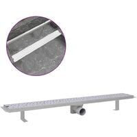 Linear Shower Drain Bubble 930x140 mm Stainless Steel