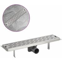 Linear Shower Drain Line 530x140 mm Stainless Steel