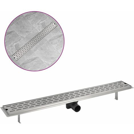Linear Shower Drain Line 930x140 mm Stainless Steel