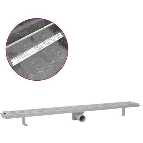 Linear Shower Drain Wave 1030x140 mm Stainless Steel