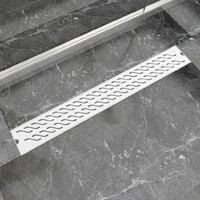 Linear Shower Drain Wave 830x140 mm Stainless Steel